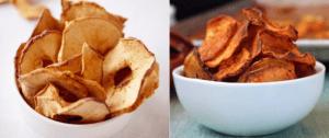 τσιπς μήλου και γλυκοπατάτας